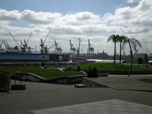 Am Hafen gibt es sogar Palmen