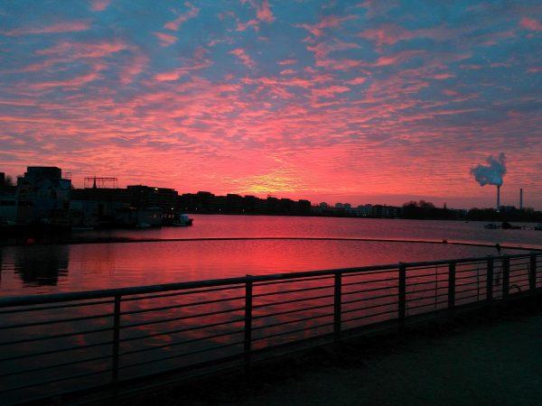 Sonnenaufgang Rummelsburger See