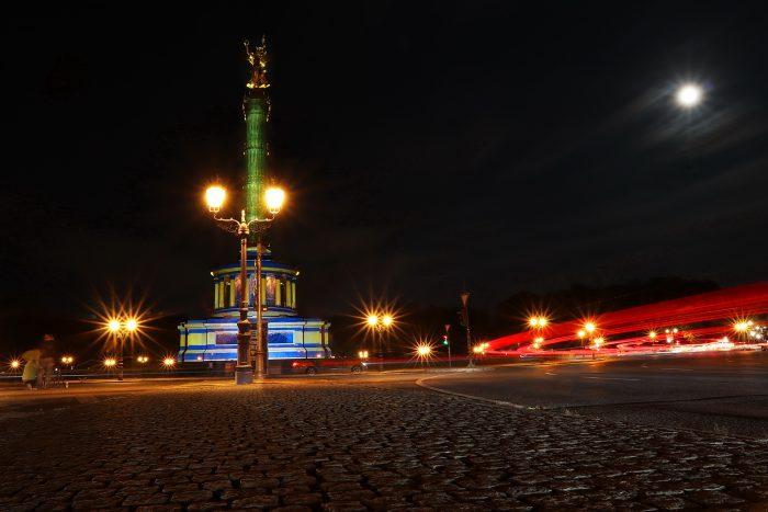 Der grosse Stern mit Siegessäule im Rahmen des Festival of Lights